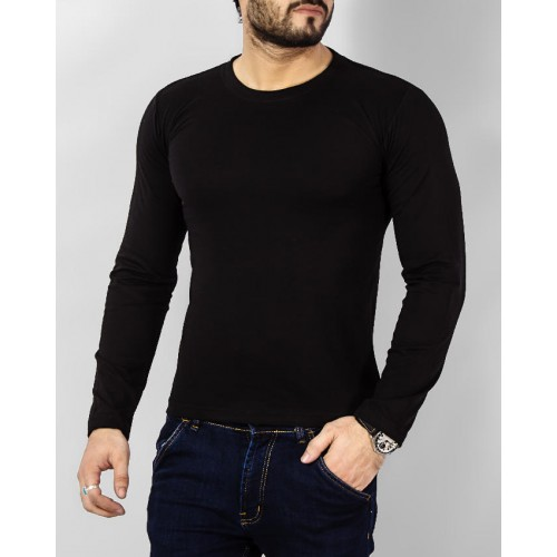 aa326f025 Men s Fashion    Western Clothing    T-Shirts    Black Full Sleeve Tshirt  For Men - Savers.pk - Everything you are looking for!