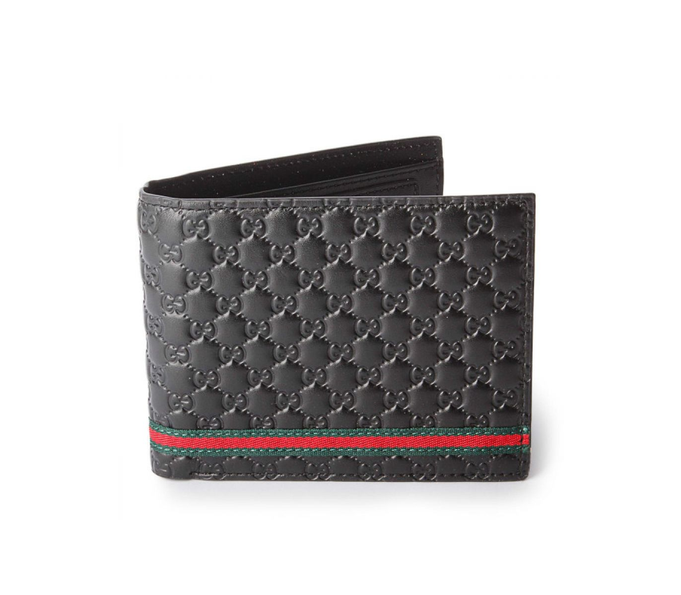 6c4f992d9162 Men s Fashion    Fashion Accessories    Belts   Wallets    GUCCI Micro  Guccissima Web with Green and Red Trim Wallet - Black - Genuine Leather -  Savers.pk ...