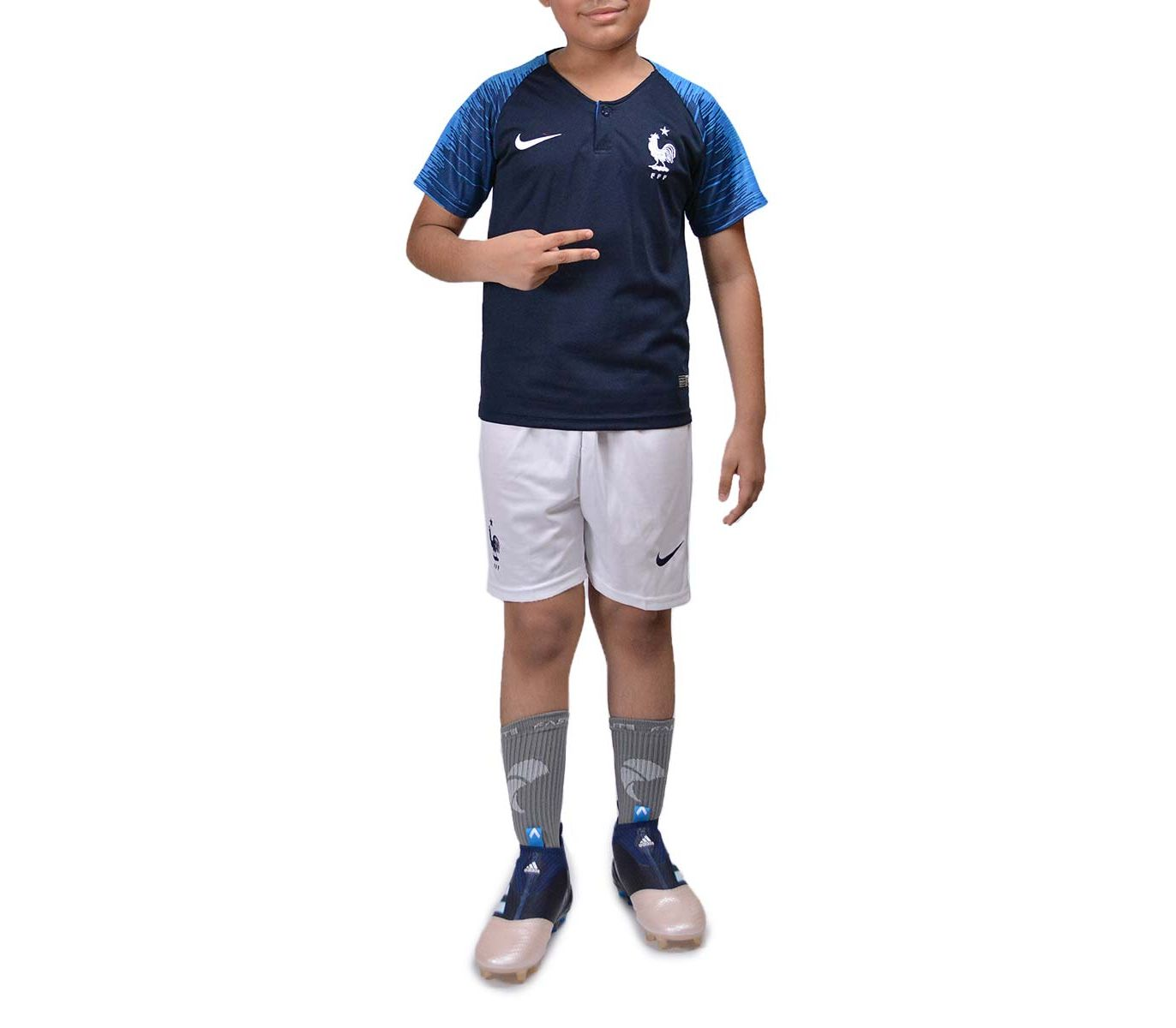 24a6b21d0 Kid s Store    Kids Sports    Fasilite France - Half Sleeves - Kids Home Kit  - World Cup 2018 - Savers.pk - Everything you are looking for!