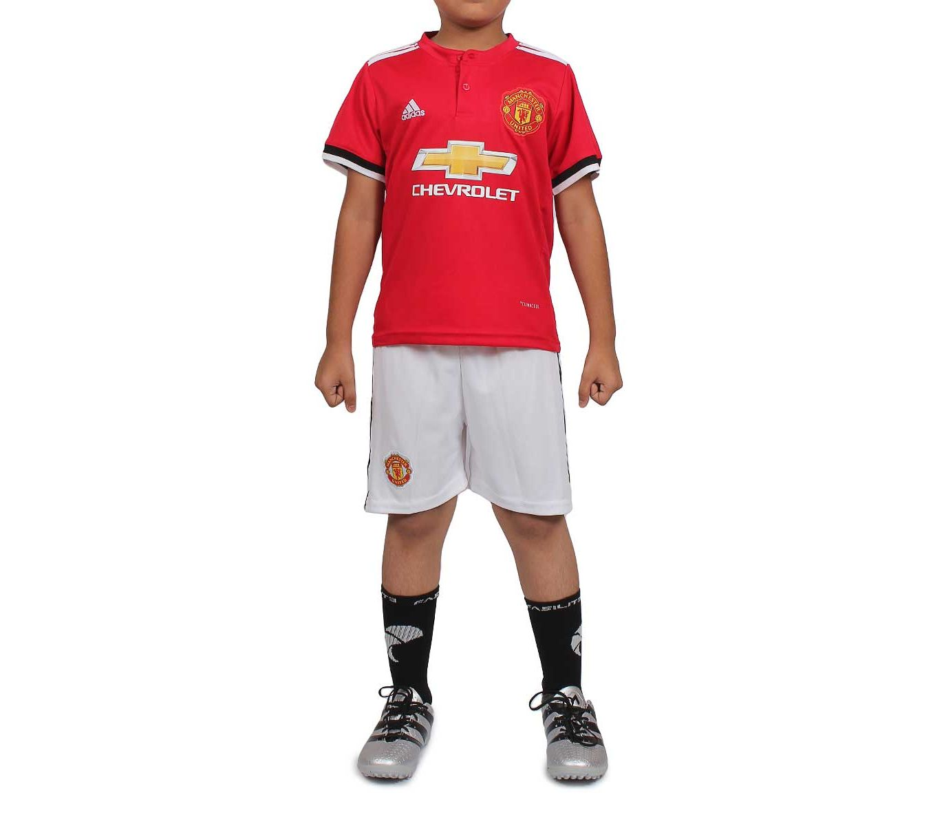finest selection 5324f b854f Fasilite Manchester United - Half Sleeves - Kids Home Kit - 2017 / 2018