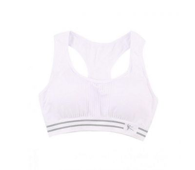 31d6cdf48e ... Shop White Cotton   Bamboo Fiber Sports Bra For Women. 80 of 136. Hover  over an image to enlarge