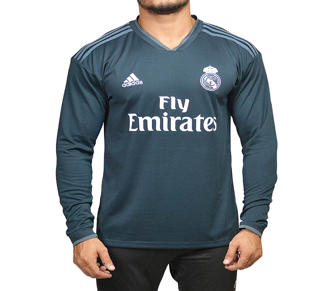 timeless design 38055 89e21 Real Madrid - Fan Version - Full Sleeves - Away Jersey By Fasilite