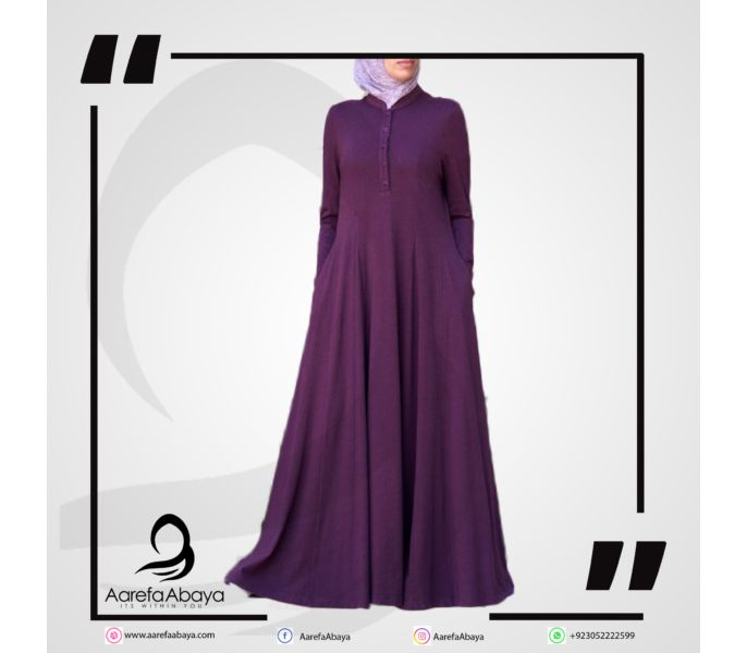 2a52b96343 Women s Fashion    Eastern Clothing    Abayas   Hijabs    Shirtdress Abaya  with Godets - Savers.pk - Everything you are looking for!