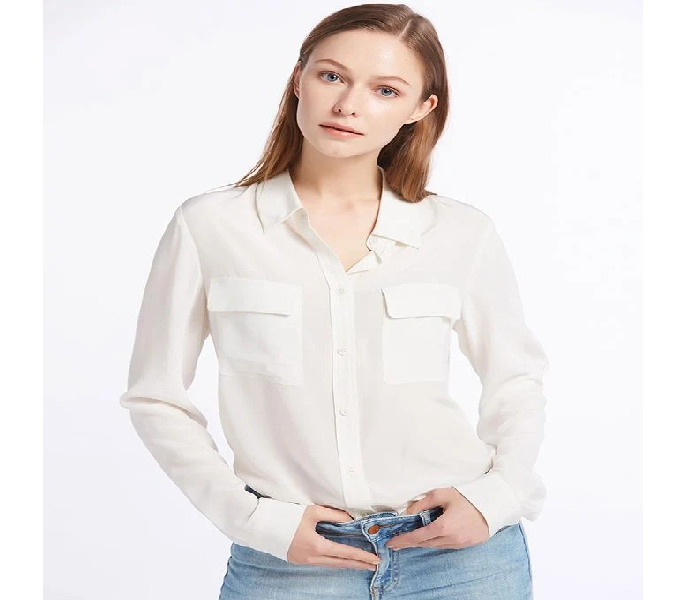 cde752de4876 Women's Fashion :: Western Clothing :: T-Shirts & Tanks Tops :: shamur by  sm White Crepe Shirt For Women - Savers.pk - Everything you are looking for!