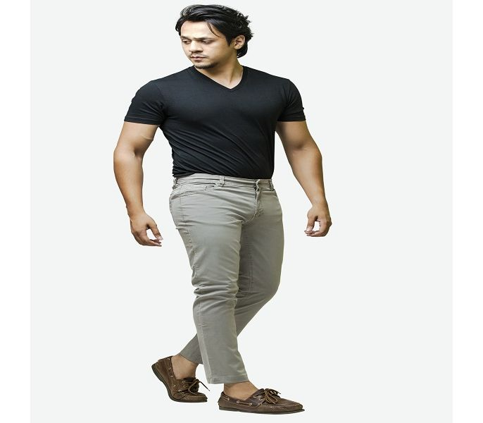 4d386b2477 Men's Fashion :: Western Clothing :: Jeans and Chinos :: Ignite Men's Light  Grey Basic Stretch Pants - Savers.pk - Everything you are looking for!