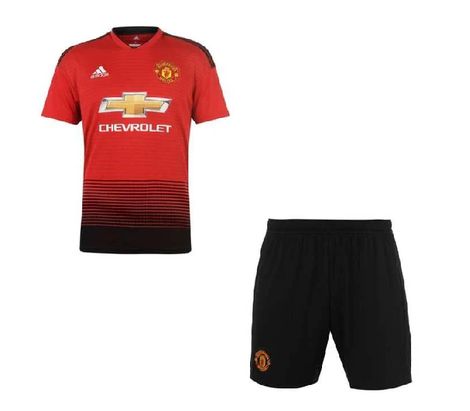 hot sale online 3cfd0 4da35 Manchester United Home Kit 2018 2019 - Half Sleeves