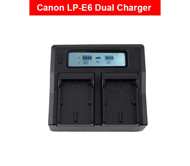 Charger Canon LC-E6 Dual LCD Turbo EOS 5D Mark III, EOS 5D Mark II, EOS 6D,  EOS 7D, EOS 70D, EOS 60D,80D