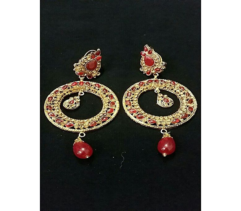c46ce09761 Women s Fashion    Fashion Accessories    Jewellery    100 Degreez Earrings  in red colour in big size and stylish design - Savers.pk - Everything you  are ...