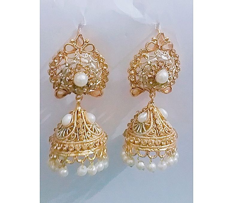 63ff5db5042dc Women s Fashion    Fashion Accessories    Jewellery    100 Degreez Gold  Plated Jhumki In Beautiful Design For Women - Savers.pk - Everything you  are looking ...