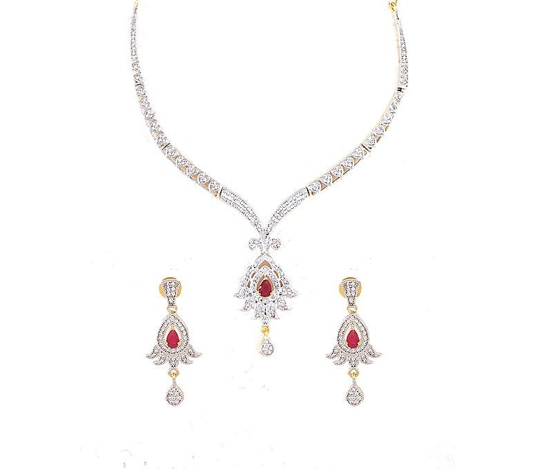 44587bb1f0c31 Women s Fashion    Fashion Accessories    Jewellery    Ifshamart Zircons  Jewellery Set for Women (Gold Plated) - Savers.pk - Everything you are  looking for!