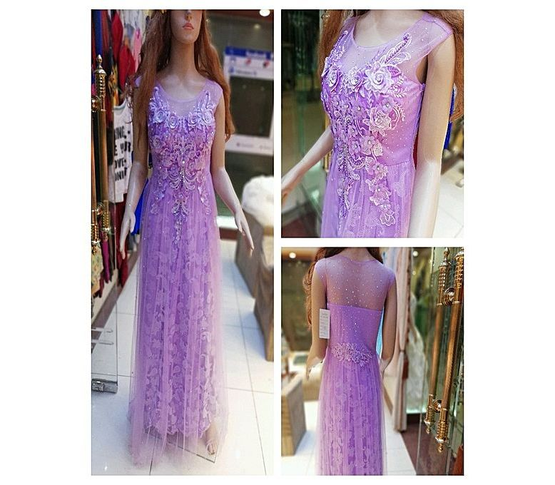 8536349bccc9 Women's Fashion :: Western Clothing :: Maxi Dresses :: PehnawaPk Purple Net Maxi  Dress For Women - Savers.pk - Everything you are looking for!