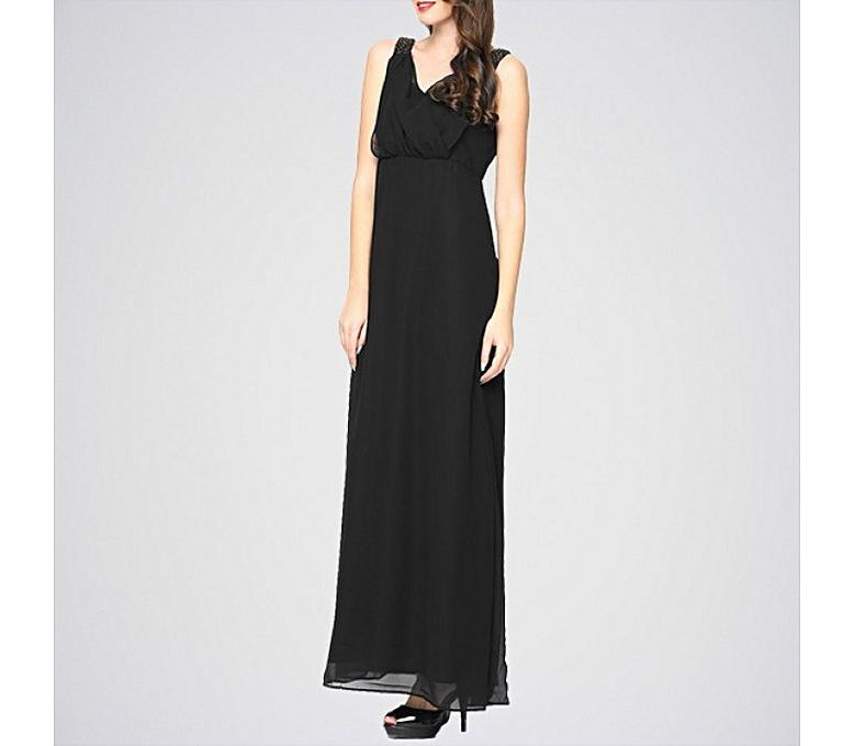 5a7478d8b80 Women s Fashion    Western Clothing    Maxi Dresses    The Ajmery Women s  Black Sleeveless Maxi Dress. E4H-21 - Savers.pk - Everything you are  looking for!