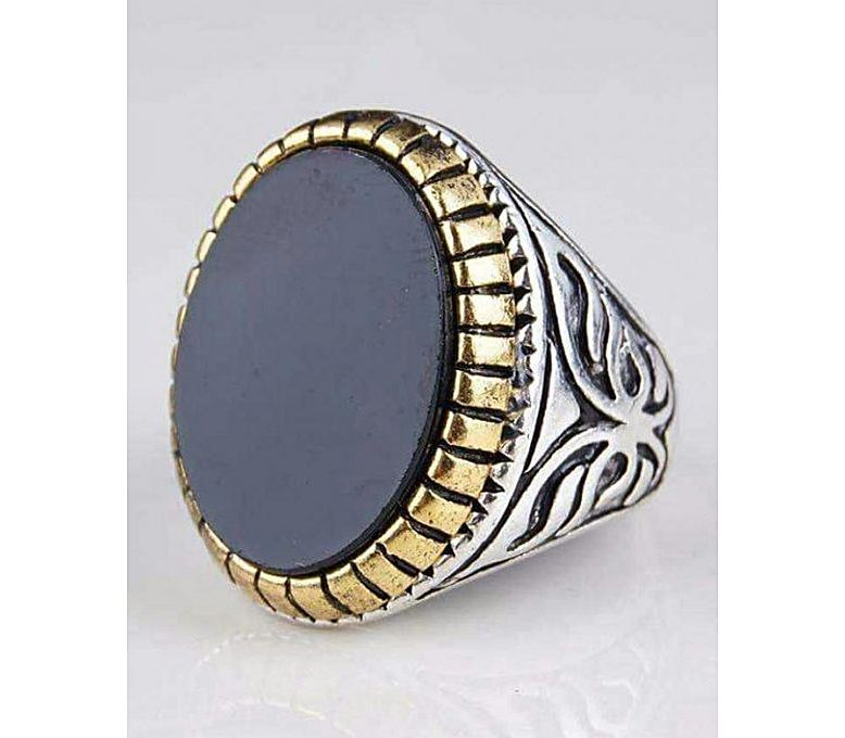 Firepark Black Aqeeq Turkish Design Men's Ring
