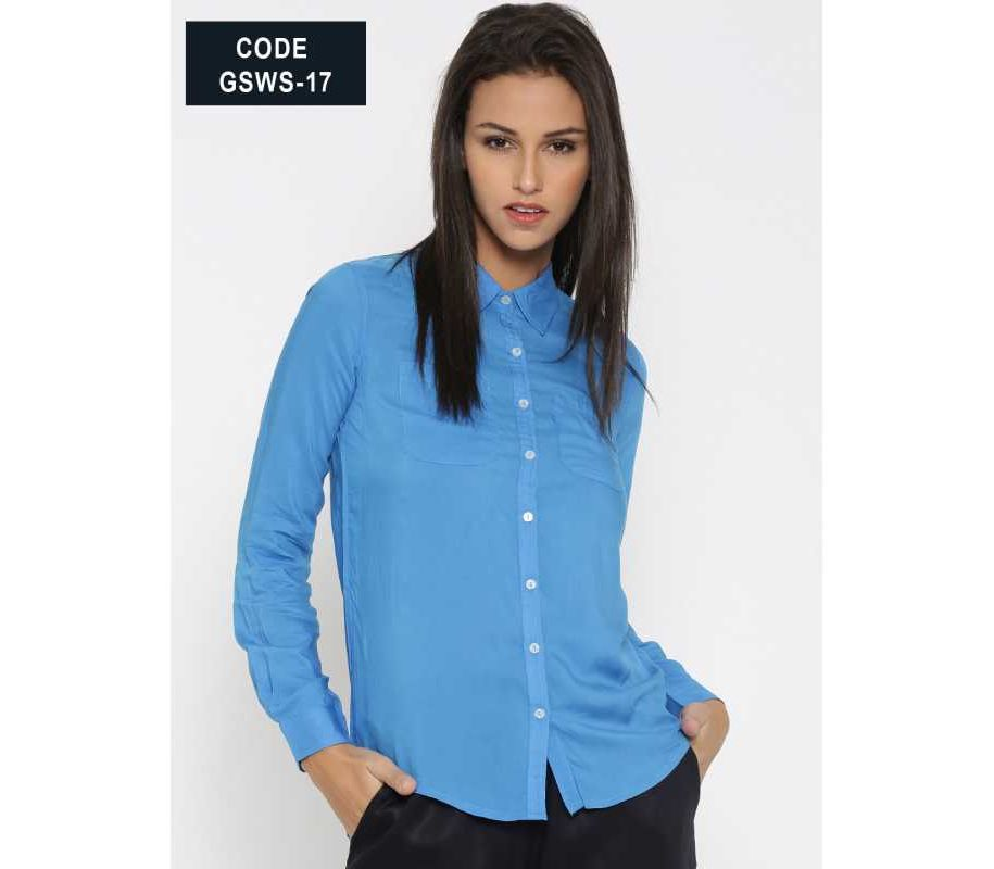 3607ea81d43 Women s Fashion    Western Clothing    Casual Shirts    WOMEN ROYAL BLUE  CASUAL DESIGNER SHIRT GSWS 17 - Savers.pk - Everything you are looking for!